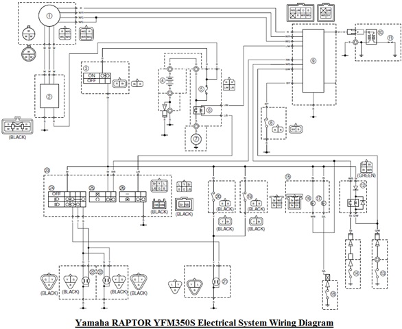 2005 Raptor 350 Wiring Diagram