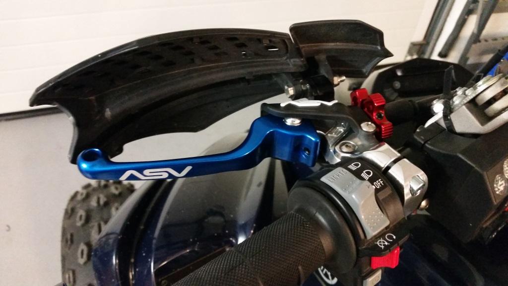 Clutch Levers Kit Yamaha Raptor 700 700R ASV Black F3 Unbreakable Brake