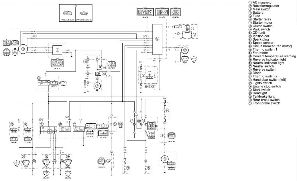 electrical wiring diagram yamaha rhino