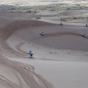 Riding @ Little Sahara Utah
